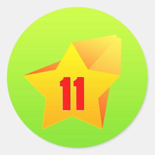 ¡All Star once años! Cumpleaños Pegatina