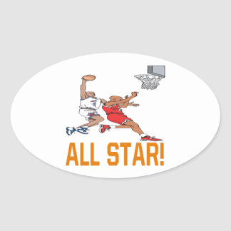 All Star Oval Sticker
