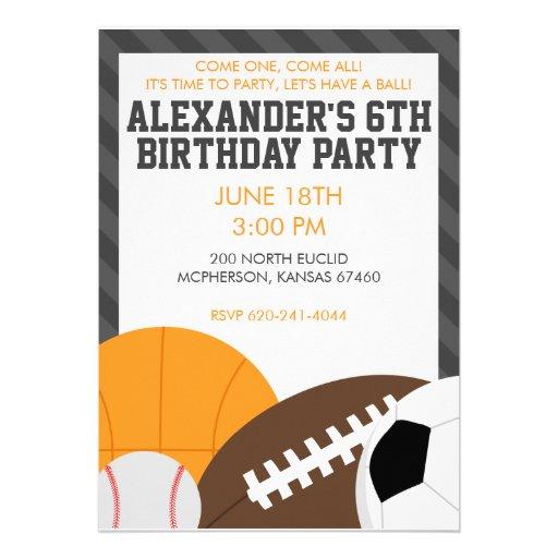 All Star Party Invitation