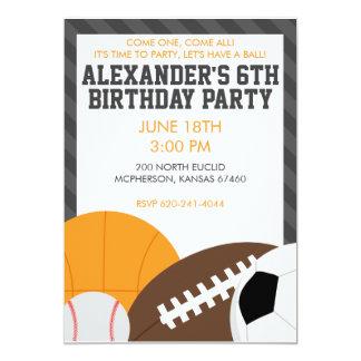 "All Star Party Invitation 5"" X 7"" Invitation Card"