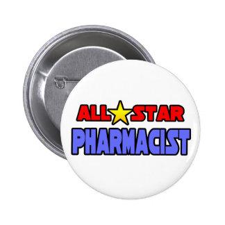 All Star Pharmacist Pinback Button