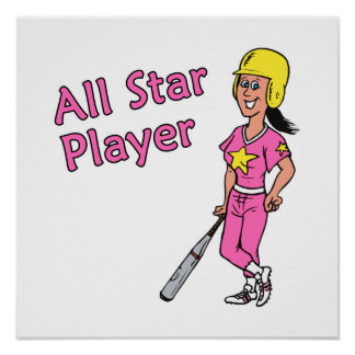 All Star Player - Girl Poster