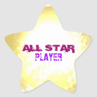 All Star Player Star Sticker
