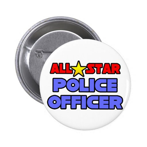 All Star Police Officer Buttons