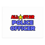 All Star Police Officer Post Card