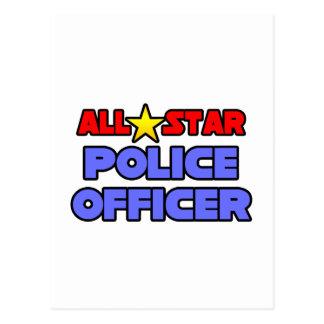All Star Police Officer Postcard