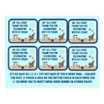 All-Star Puppies Baby Shower Party Favor Tags Post Cards