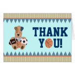 All-Star Puppies Baby Shower Thank-You Notecard Stationery Note Card