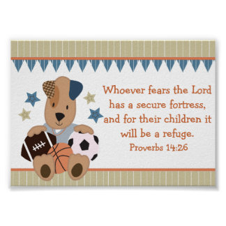 All-Star Puppies Christian Bible Verse Poster