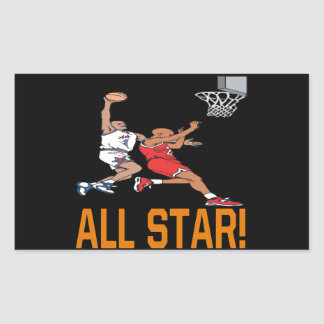 All Star Rectangular Sticker