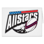 All Star Rugby Greeting Card