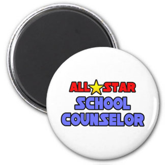 All Star School Counselor 2 Inch Round Magnet