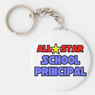 All Star School Principal Keychain