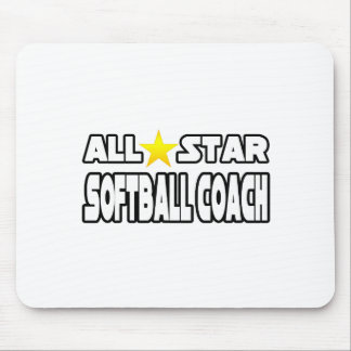 All Star Softball Coach Mouse Pads