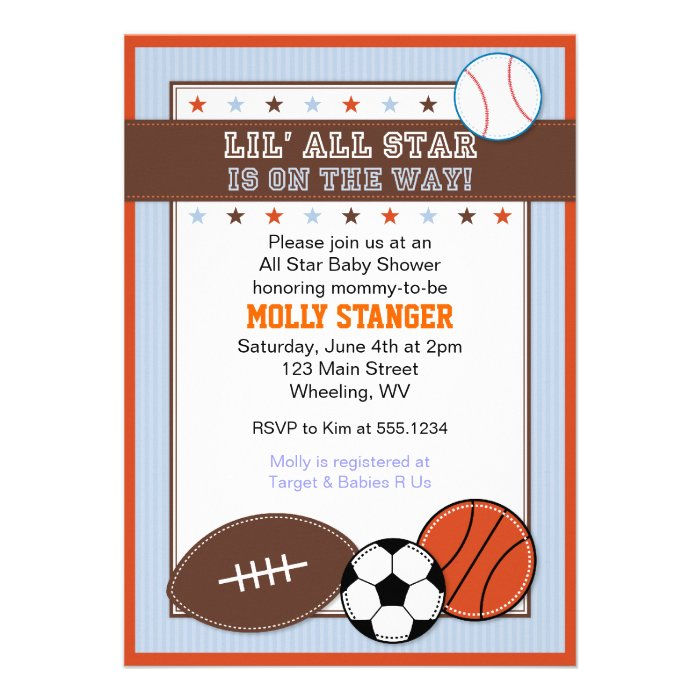 Sport Themed Invitations as perfect invitation example