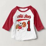 All Star Sports 1st Birthday Baby T-Shirt