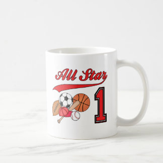 All Star Sports 1st Birthday Coffee Mug