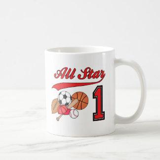 All Star Sports 1st Birthday Mugs