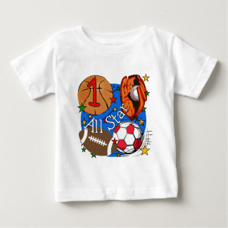 All Star Sports 1st Birthday Tshirts and Gifts