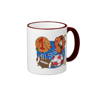 All Star Sports 1st Birthday Tshirts and Gifts Mugs