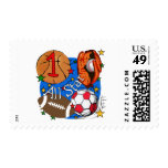 All Star Sports 1st Birthday Tshirts and Gifts Postage Stamps