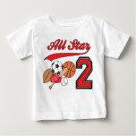 All Star Sports 2nd Birthday Baby T-Shirt