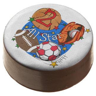All Star Sports 2nd Birthday Dipped Oreos