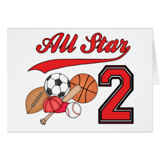 All Star Sports 2nd Birthday Invitations