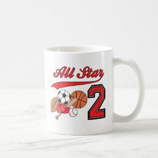 All Star Sports 2nd Birthday Coffee Mug
