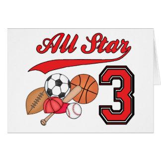 All Star Sports 3rd Birthday Invitations