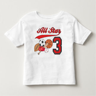 All Star Sports 3rd Birthday Toddler T-shirt