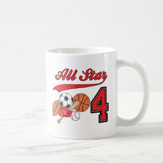 All Star Sports 4th Birthday Mug