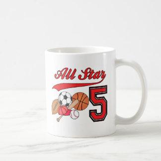 All Star Sports 5th Birthday Coffee Mugs