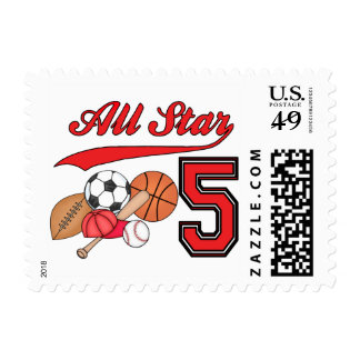 All Star Sports 5th Birthday Postage