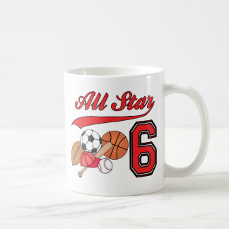 All Star Sports 6th Birthday Coffee Mug