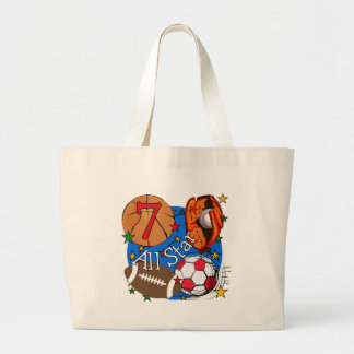 All Star Sports 7th Birthday Tshirts and Gifts Tote Bag