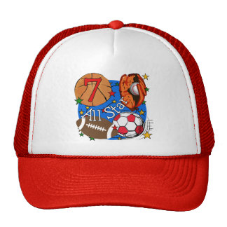 All Star Sports 7th Birthday Tshirts and Gifts Trucker Hat
