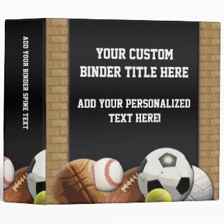All Star Sports Balls w Brick Wall Binder