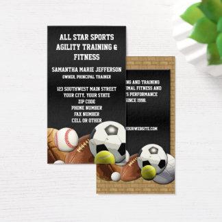 All Star Sports Balls w/ Brick Wall Business Card