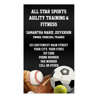 All Star Sports Balls w Brick Wall Business Card Templates