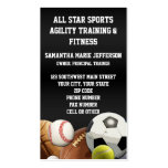 All Star Sports Balls w/ Brick Wall Double-Sided Standard Business Cards (Pack Of 100)