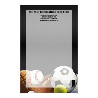 All Star Sports Balls w/ Brick Wall Stationery