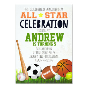 Sports Birthday Invitations Zazzle