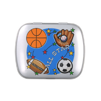 All Star Sports Candy Tins
