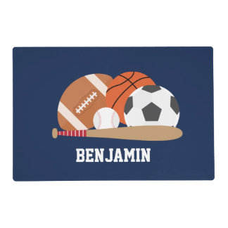 All Star Sports Kids Placemat