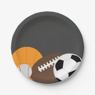 All Star Sports Party Paper Plate