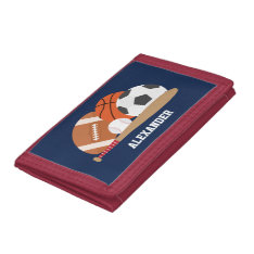 All Star Sports Trifold Wallet at Zazzle