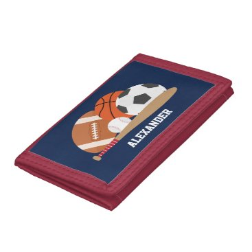 heartlocked All Star Sports Trifold Wallet