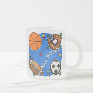 All Star Sports Tshirts and Gifts 10 Oz Frosted Glass Coffee Mug