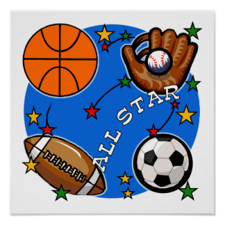 All Star Sports Tshirts and Gifts Poster